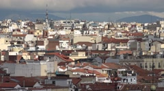 4K Aerial view famous Madrid crowded town beautiful cityscape rooftop design day Stock Footage