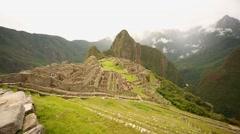 Machu Picchu (Inca city) in Peru, South America - stock footage