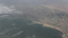 Peru: Flying over Lima (Disctrict Chorillos) Stock Footage