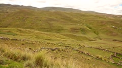 Andean landscape with andes mountains in Peru Stock Footage
