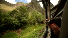 Peru: Train from Cusco to the Inca City Machu Picchu in the sacred valley Stock Footage