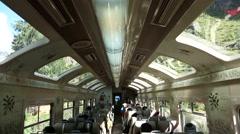 Train in Peru from Cusco to the Inca City Machu Picchu Stock Footage