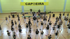 Competition in capoeira among children and adolescents.Editorial. Stock Footage