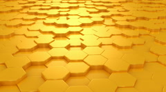 Background Formed From Moving Honeycombs - stock footage