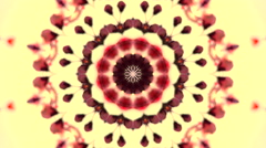 Spring floral kaleidoscopic pattern with cherry flowers and leaves Stock Footage