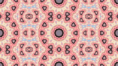 Beautiful spring floral kaleidoscopic pattern in pink and blue colors Stock Footage