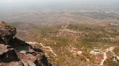 Aerial Myanmar landscape over horizon  view from mountain Stock Footage