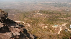 Myanmar aerial view of rural terrain - view from Popa hill Stock Footage
