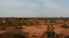 Beautiful panoramic view of old Bagan in Myanmar - hyperlapse Stock Footage