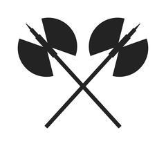Axe steel isolated black silhouette - stock illustration