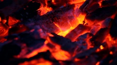 The embers in the fire Stock Footage