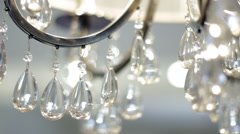 Crystal Chandelier Close Up Stock Footage