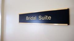 Bridal Suite Sign - stock footage