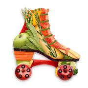 Veggie skates. - stock photo