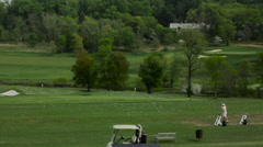 Driving Range Practice Shot - stock footage