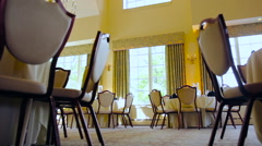 Empty Reception Hall Stock Footage