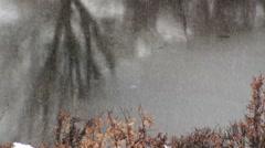 Vallefiorita frozen pond Stock Footage