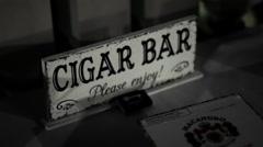 Cigar Bar Sign - stock footage