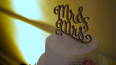 Mr & Mrs Cake Topper Stock Footage