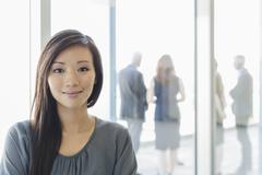 Stock Photo of Portrait smiling businesswoman
