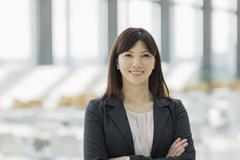 Portrait confident businesswoman - stock photo