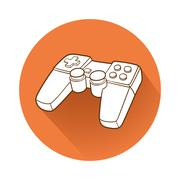 Gamepad symbol - stock illustration