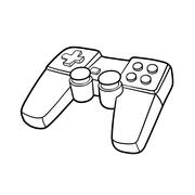 Gamepad symbol Stock Illustration