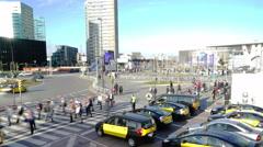 Crosswalk Congress Fira Barcelona 4K Stock Footage