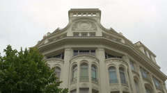Beautiful building on Avenue Jean Médecin in Nice Stock Footage