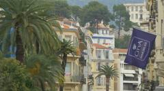 Citya Immobilier flag on Avenue Maréchal Foch, Nice Stock Footage