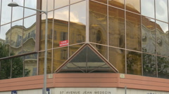 Close up of the Armand Thiery store building on Avenue Jean Médecin in Nice Stock Footage