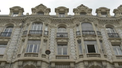 Low angle view of a beautiful building in Nice Stock Footage