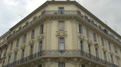 Beautiful building seen on a cloudy day in Nice - stock footage