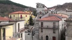 Acquaviva small village of Molise Stock Footage