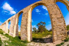 Kamares Aqueduct, Larnaca, Cyprus Stock Photos