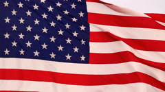 Wind Waving Bright Patriotic American Flag Stars and Stripes Stock Footage