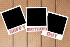 Happy mothers day photo frames on designer wallpaper Stock Illustration