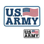US Army. Emblem for army of America. Flag of United States America. United St Stock Illustration