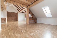 Empty modern interior Stock Photos
