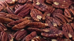 Rotating Pecan Nuts (seamless loopable) Stock Footage