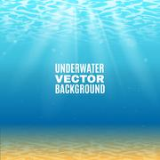 Underwater Vector Background - stock illustration