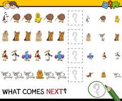 pattern educational activity - stock illustration