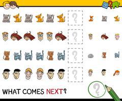 Pattern activity for children Stock Illustration