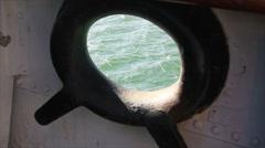 Sea through hole on board Stock Footage