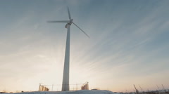 Wind energy wind power  wind turbine Stock Footage