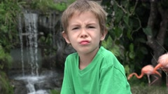 Anxious Young Toddler Boy Stock Footage