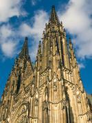 Saint Vitus Cathedral in Prague - stock photo