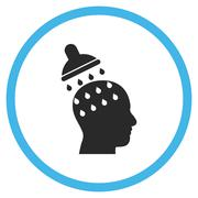 Brain Washing Flat Rounded Vector Icon - stock illustration