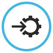 Cog Integration Flat Rounded Vector Icon - stock illustration