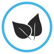 Flora Plant Flat Rounded Vector Icon - stock illustration